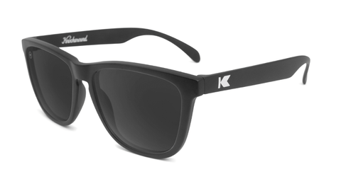 Sunglasses with Black Frame and Polarized Black Smoke Lenses, Flyover