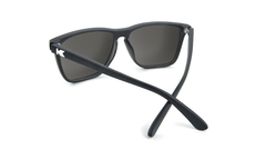 Knockaround Fast Lanes Matte Black Frames with Black Smoke Lenses, Back