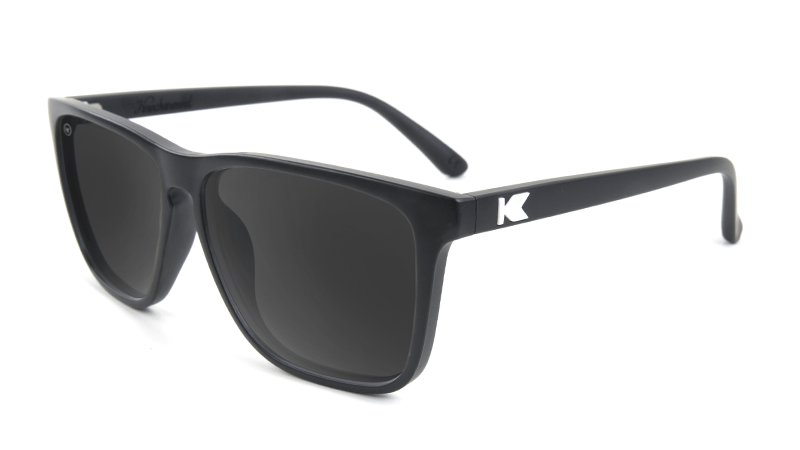 77bb358bc1 Knockaround Fast Lanes Matte Black Frames with Black Smoke Lenses