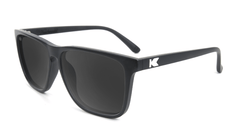 Knockaround Fast Lanes Matte Black Frames with Black Smoke Lenses, Flyover