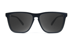 Knockaround Fast Lanes Matte Black Frames with Black Smoke Lenses, Front