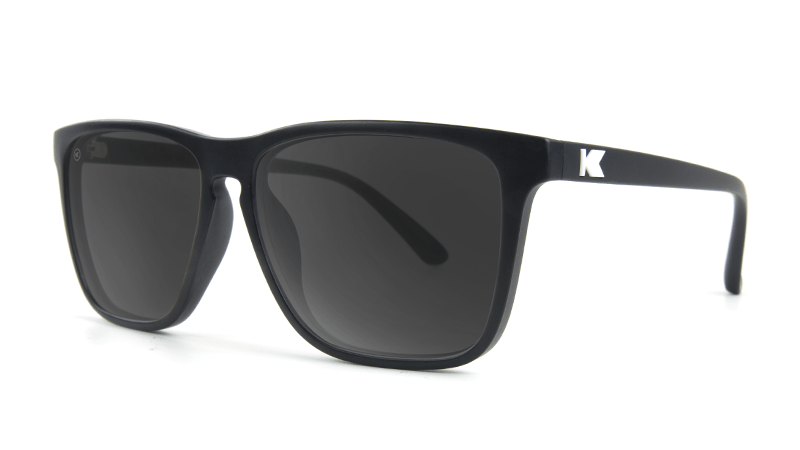 6f7c057eee9b ... Knockaround Fast Lanes Matte Black Frames with Black Smoke Lenses,  Threequarter ...