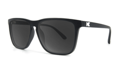 Knockaround Fast Lanes Matte Black Frames with Black Smoke Lenses, Threequarter