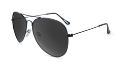 Knockaround Mile Highs Sunglasses with a Black Metal Frame and Polarized Smoke Lenses, Flyover