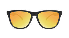 Sunglasses with Black Frame and Polarized Sunset Lenses, Front