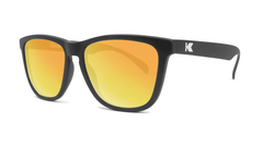 Sunglasses with Black Frame and Polarized Sunset Lenses, Threequarter