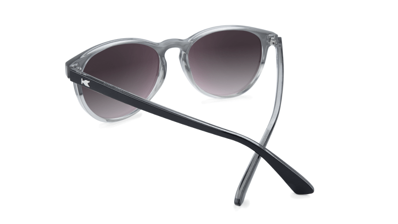 86f8f155da3 ... Sunglasses with Glossy Black and Clear Frame and Polarized Smoke Lenses