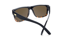 Sunglasses with Glossy Black and Tortoise Shell Fade Frame and Polarized Amber Lenses, Back