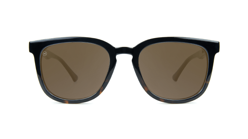 8cb5a1f26cf ... Sunglasses with Glossy Black Tortoise Shell Fade and Polarized Amber  Lenses