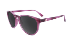 Sunglasses with Blackberry Lagoon Frames and Polarized Smoke Lenses, Flyover