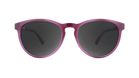 Sunglasses with Blackberry Lagoon Frames and Polarized Smoke Lenses, Back