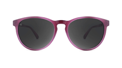 Sunglasses with Blackberry Lagoon Frames and Polarized Smoke Lenses, Front