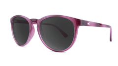 Sunglasses with Blackberry Lagoon Frames and Polarized Smoke Lenses, Threequarter