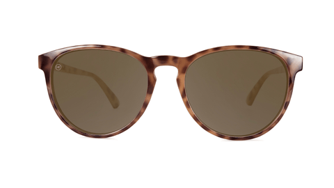 Sunglasses with Blonde Tortoise Shell Frames and Polarized Amber Lenses, Back