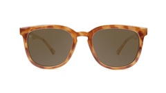 Sunglasses with Blonde Tortoise Frames and Polarized Amber Lenses, Front