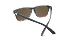 Sunglasses with Black and Blonde Tortoise Shell Fade Frames and Polarized Amber Lenses, Back