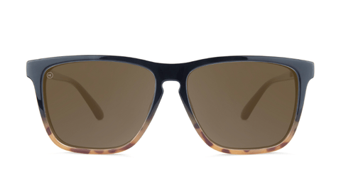 Glossy Black and Blonde Tortoise Fade / Amber Fast Lanes