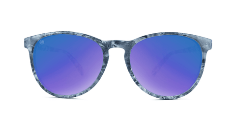 Mai Tais Sunglasses with Blue Marble Frames and Blue Mirrored Lenses, Back
