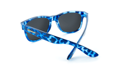 Fort Knocks Sunglasses with Glossy Blue Tortoise Shell Frames and Blue Aqua Mirrored Lenses, Back