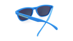 Classics Sunglasses with Azure Blue Frames and Yellow Mirrored Lenses, Back