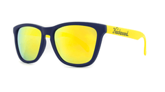 Knockaround Sunglasses Navy Blue and Yellow / Yellow Classics Threequarter