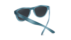 Sunglasses with Blue Lagoon Frames and Polarized Smoke Lenses, Back