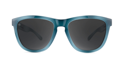 Sunglasses with Blue Lagoon Frames and Polarized Smoke Lenses, Front