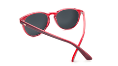 Sunglasses with Burgundy Watermelon Geode Frames and Polarized Fuchsia Lenses, Back