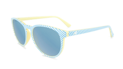Sunglasses with Cabana Frames and Polarized Sky Blue Lenses, Flyover