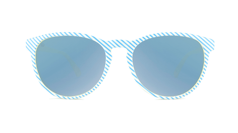 Sunglasses with Cabana Frames and Polarized Sky Blue Lenses, Back