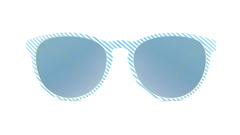 Sunglasses with Cabana Frames and Polarized Sky Blue Lenses, Front