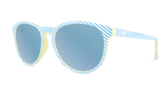 Sunglasses with Cabana Frames and Polarized Sky Blue Lenses, Threequarter