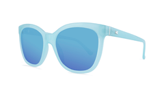 Sunglasses with Chill Blue Frames and Polarized Aqua Lenses, Threequarter