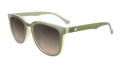 Sunglasses with Coastal Dunes Frames and Polarized Amber Gradient Lenses, Flyover