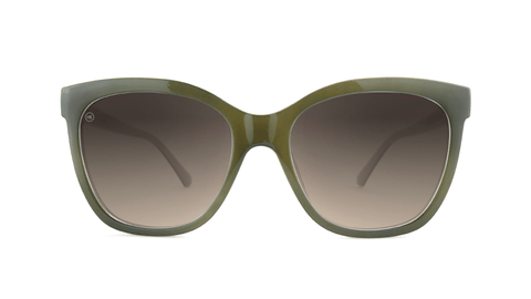 Sunglasses with Coastal Dunes Frames and Polarized Amber Gradient Lenses, Back