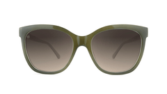 Sunglasses with Coastal Dunes Frames and Polarized Amber Gradient Lenses, Front