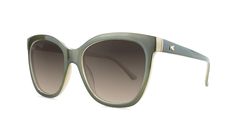 Sunglasses with Coastal Dunes Frames and Polarized Amber Gradient Lenses, Threequarter