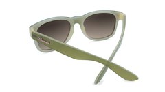 Sunglasses with Dark Green and Dessert Sand Frames with Polarized Amber Gradient Lenses, Back