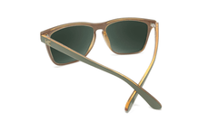 Sunglasses with Army Green Frames and Polarized Aviator Green Lenses, Back