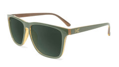 Sunglasses with Army Green Frames and Polarized Aviator Green Lenses, Flyover