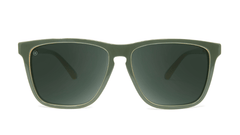 Sunglasses with Army Green Frames and Polarized Aviator Green Lenses, Front