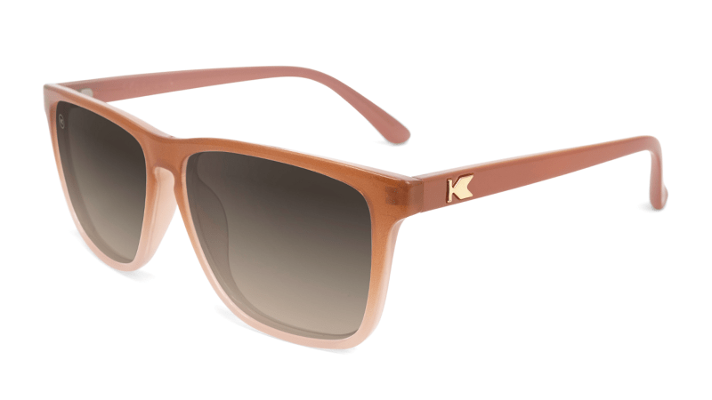 Sunglasses with Daytona Tan Frame and Polarized Amber Gradient Lenses, Flyover
