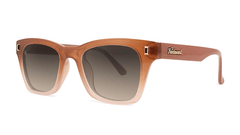 Sunglasses with Daytona Tan Frame and Polarized Amber Gradient Lenses, Threequarter