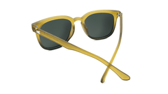 Sunglasses with Frosted Amber Fade Frames and Polarized Aviator Green Lenses, Back
