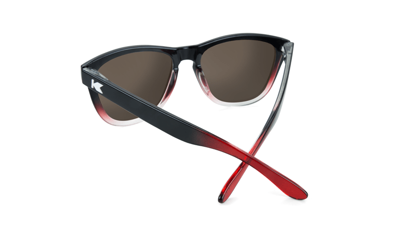 ed4a24171a32 ... Premiums Sunglasses with Glossy Black, Red and Clear Frame with Red  Sunset Lenses, Back