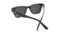 Sunglasses with Glossy Black Frames and Polarized Snow Opal Lenses, Back