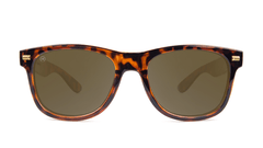 Fort Knocks Sunglasses with Tortoise Shell Frames and Brown Amber Lenses, Front