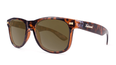 Fort Knocks Sunglasses with Tortoise Shell Frames and Brown Amber Lenses, Threequarter