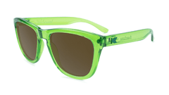 Knockaround Sunglasses Green Agave with Amber Lenses, Flyover
