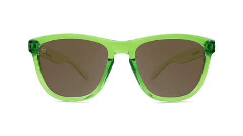 Knockaround Sunglasses Green Agave with Amber Lenses, Back